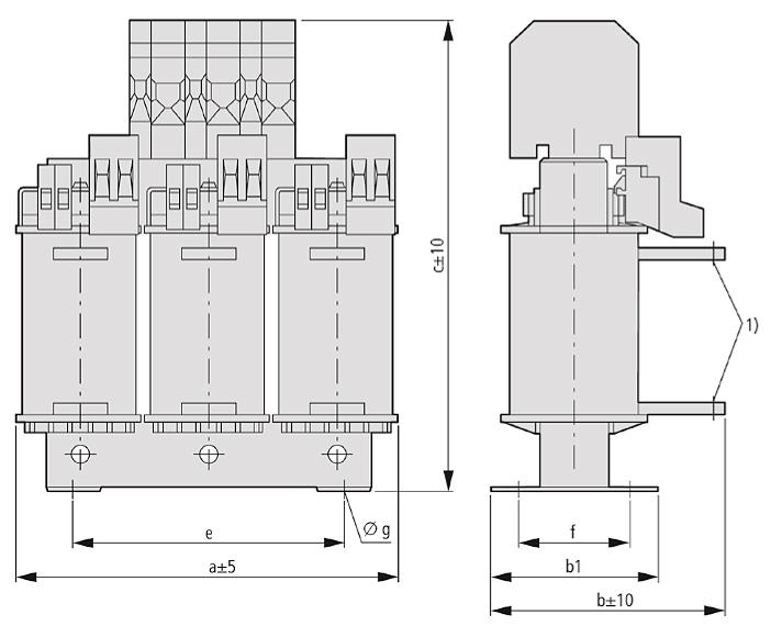 DDK Grafik - Dreiphasen-Kommutierungsdrossel