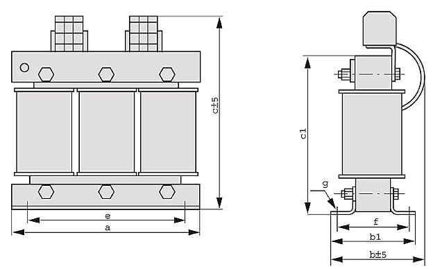 DTF Grafik - Dreiphasen-Transformatoren