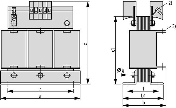 DTZ Grafik - Dreiphasen-Steuer-Trenn / Sicherheitstransformator
