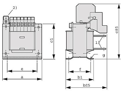 ET, ETF Grafik - Einphasen-Anpassungstransformator