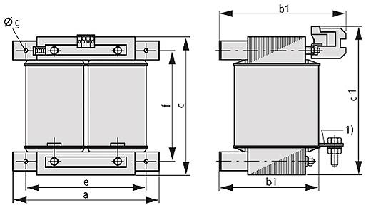 ET, ETF Grafik 2 - Einphasen-Anpassungstransformator