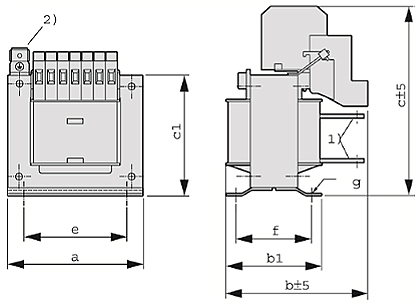 ETSP, ETFSP Grafik - Einphasen-Spartransformator
