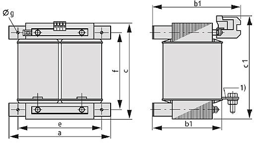 ETSP, ETFSP Grafik 2 - Einphasen-Spartransformator