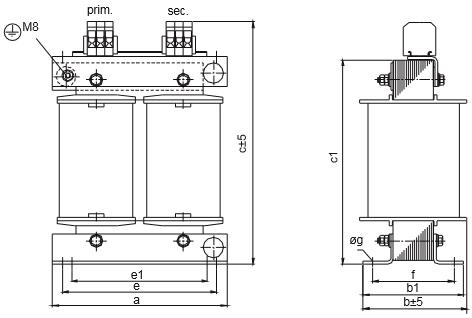 ETSP, ETFSP Grafik 3 - Einphasen-Spartransformator