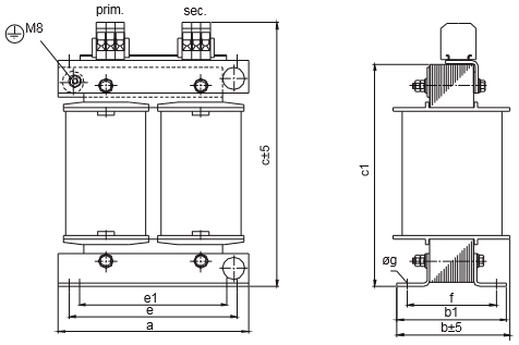 ETSP, ETFSP Grafik 4 - Einphasen-Spartransformator