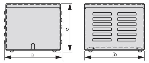 IP23 Grafik - Stahlblechschutzgehäuse