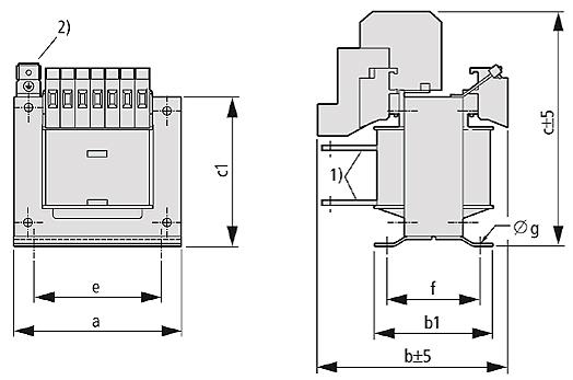 STZ Grafik - Einphasen-Steuer-Trenn-/Sicherheitstransformator