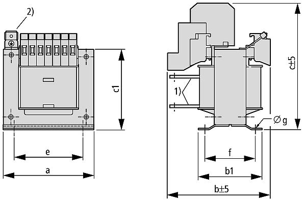 UTI Grafik - Einphasen-Mehrwicklungstransformator